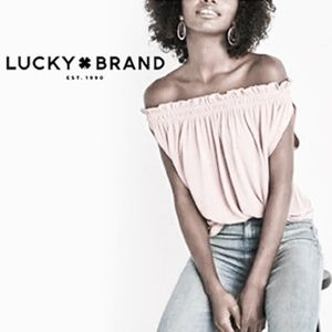 NWT 🍀 Lucky Brand Sandwash Off The Shoulder Top